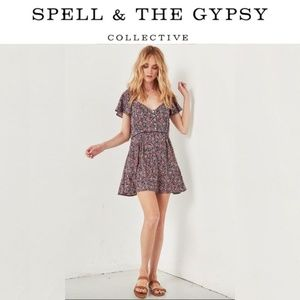 Spell & The Gypsy Jasmine 90's Mini Floral Dress S